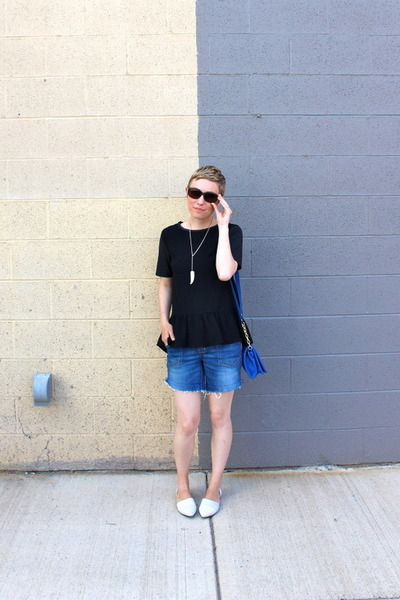 H&M shirt - Target purse - Chinese Laundry flats - Forever 21 necklace