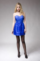 blue quail dress