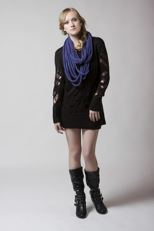 blue Denada scarf - black Mink Pink