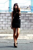 black cut out dress Topshop dress