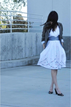 Anthropologie dress - Gap jacket - shoes