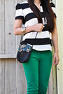 Green-green-jeans-zara-pants-white-zara-blouse