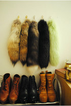 black faux fur unknown accessories - brown faux fur unknown accessories