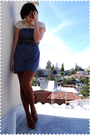 Beige-bb-dakota-blouse-blue-forever-21-dress-brown-urban-outfitters-belt-b