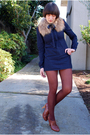 Brown-accessories-blue-charley-dress-brown-target-stockings-brown-seychell