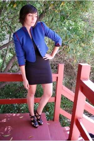 vintage blazer - vintage express dress - Steve Madden shoes