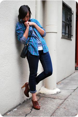 vintage izod lacoste blouse - American Apparel sweater - J Crew t-shirt - Cheap