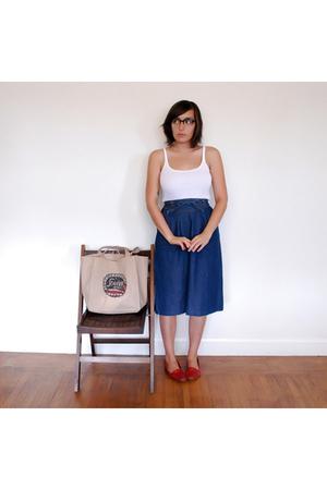 31 phillip lim glasses - J Crew top - thrifted vintage skirt - thrifted vintage