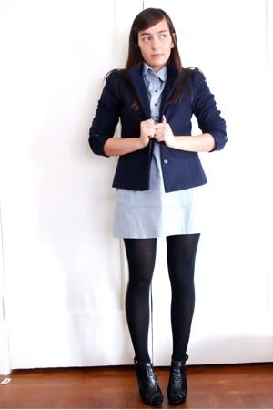 thrifted vintage blazer - forever 21 dress - wolford on ebay stockings - Steve M