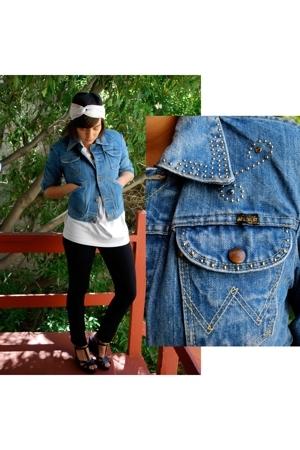 blue Wrangler jacket