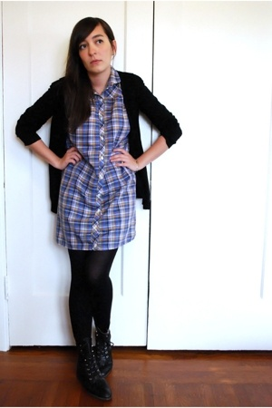 wo sweater - vintage on ebay dress - wolford on ebay socks - vintage on ebay boo