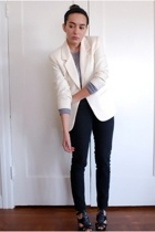 thrifted blazer - Gap sweater - Cheap Monday jeans - Steve Madden shoes - Goody