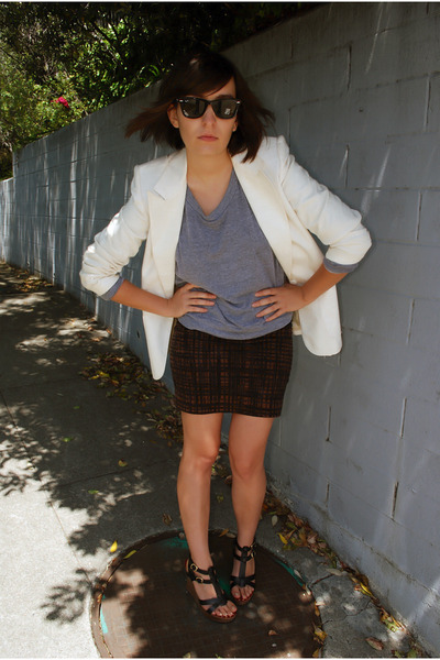 vintage hand-me-down blazer - American Apparel sweater - bdg from urban outfitte