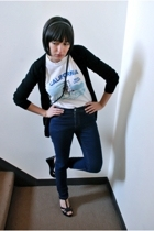 vintage t-shirt - Cheap Monday jeans - wo sweater - Star Ling from Nordstrom sho