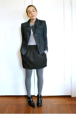 esprit from like 2001 jacket - Gap on sale sweater - American Apparel skirt - ca