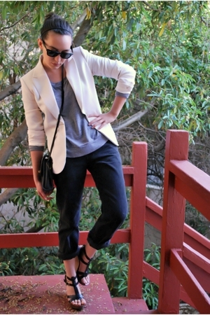 black Steve Madden shoes - black thrifted vintage 501 levis jeans