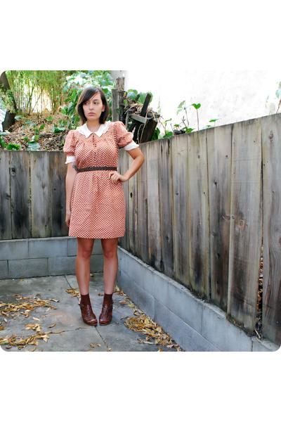 vintage dress - thrifted vintage belt - vintage socks - Star Ling from Nordstrom