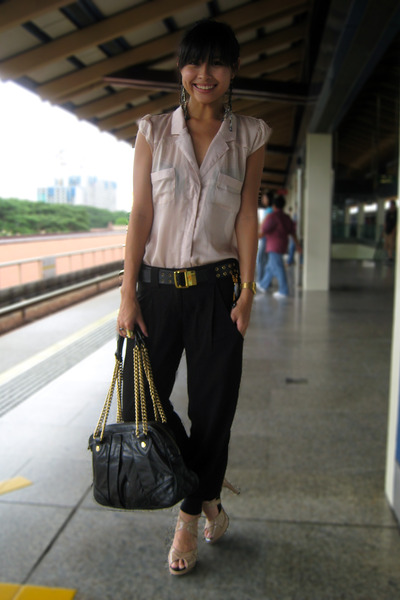 cotton on blouse - bysi pants - Charles &amp; Keith shoes - Marc Jacobs accessories
