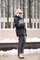 dark brown Louis Vuitton bag - dark brown Ivanka Trump heels