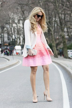 bubble gum Shoshanna dress - eggshell nowistylejp blazer