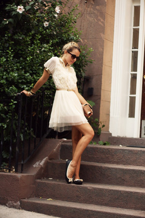 eggshell OASAP dress - nude Steve Madden bag - black Forever21 flats