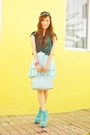 Aquamarine-asian-vogue-boots-light-blue-tommy-hilfiger-bag