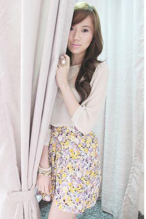 Mango blouse - H&M shorts - korea clogs - Aldo accessories
