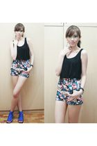 Max & Mara Singapore top - MinkPink shorts - stella luna shoes - Bazaar accessor