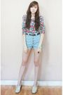H-m-top-trunk-show-shorts-gold-dot-clogs-forever-21-bracelet-zara-belt