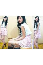 Zara top - Luvlicious skirt - Zara boots