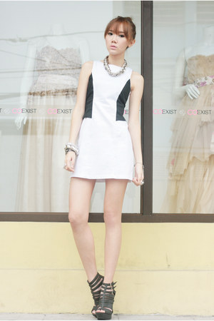 Christy Ng wedges - ensembles dress - silver sm accessories bracelet
