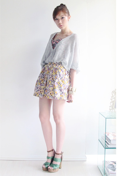 corset H&M top - H&M shorts - WAGW httpwagwmultiplycom cardigan - H&M heels