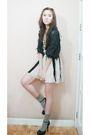 Korean-cardigan-marks-and-spencer-top-forever-21-skirt-aldo-shoes
