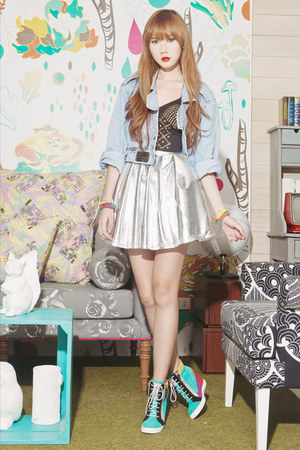 Market HQ skirt - chictopia shop jacket - Choies wedges