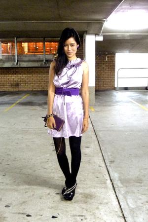 Howard Showers belt - dress - vintage - Sachi Platforms shoes - accessories