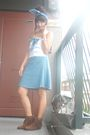 Blue-ckawaiilovermultiplycom-accessories-blue-shoponblogcom-dress-brown-cine