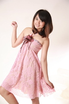 pink lace dress - pink accessories