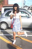 blue cerealboxlabelscom dress - red - pink shoes - white socks