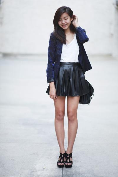 black Forever 21 skirt - navy Forever 21 blazer