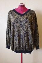 metallic lady ronte sweater