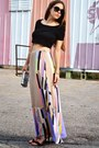 Periwinkle-tibi-skirt-black-crop-top-h-m-top-tan-tibi-heels