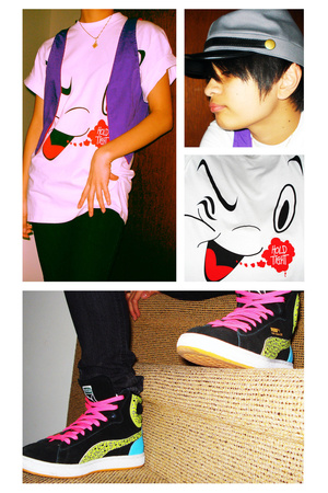 American Apparel vest - Stussy shirt - Puma shoes