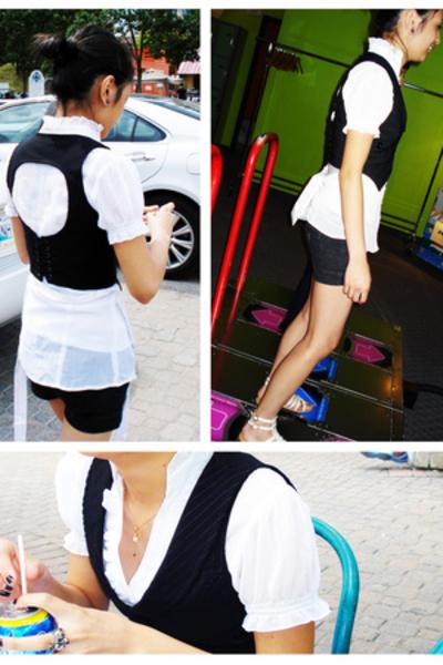 blouse - shorts - vest - shoes