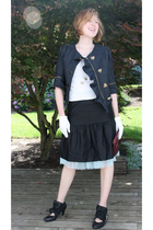 handmade jacket - Jeans Warehouse top - Marc Jacobs skirt - Spiral girl skirt -