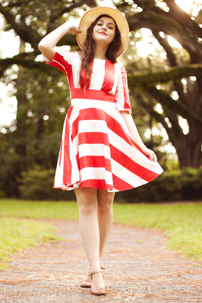 red stripes modcloth dress