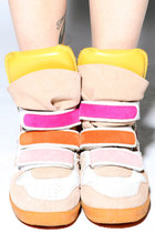 yellow sunrise colors beckybwardrobe sneakers