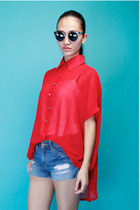 red beckybwardrobe blouse