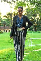 black armani blazer - blue Louis Carvalho blouse - blue Louis Carvalho pants