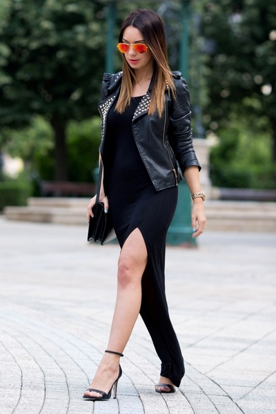 black Love dress - black Zara jacket - black Mango bag