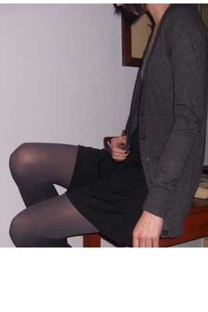 forever 21 sweater - American Apparel skirt - Target tights - forever 21 shirt -
